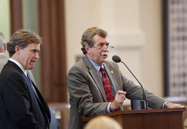 Rep. Lon Burnam D-Ft. Worth and Rep. Dan Branch R-Dallas during SB 31 debate on May 20th, 2011