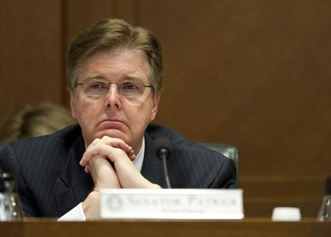 State Sen. Dan Patrick, R-Houston, at a Senate Education Committee meeting on June 2, 2011.