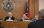 Sen. Steve Ogden R-Bryan, Sen. John Whitmire D-Houston and Sen. Judith Zaffirini D-Laredo listen to testimony during finance committee meeting on June 2nd, 2011