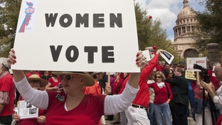 March 6th, 2012: Protest against Texas lawmakers decision regarding changed to the  the Women's Health Program. the federal government is expected to cut funding for the program because Texas improperly excluded Planned Parenthood from its list of providers