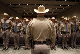 Texas Department of Public Safety recruit graduation class on April 7th, 2011 in Austin, Texas