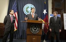 Gov. Rick Perry during higher education press conference April 14th, 2011