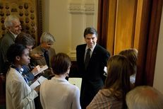 Gov. Rick Perry speaks with the press on May 5, 2011.