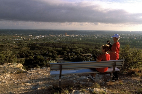 The bird's eye-view from Scenic Mountain draws many visitors to Big Spring State Park in West Texas.