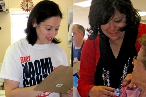 Naomi Gonzalez (left), Norma Chavez (right)