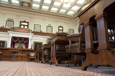 The chamber of the Texas House