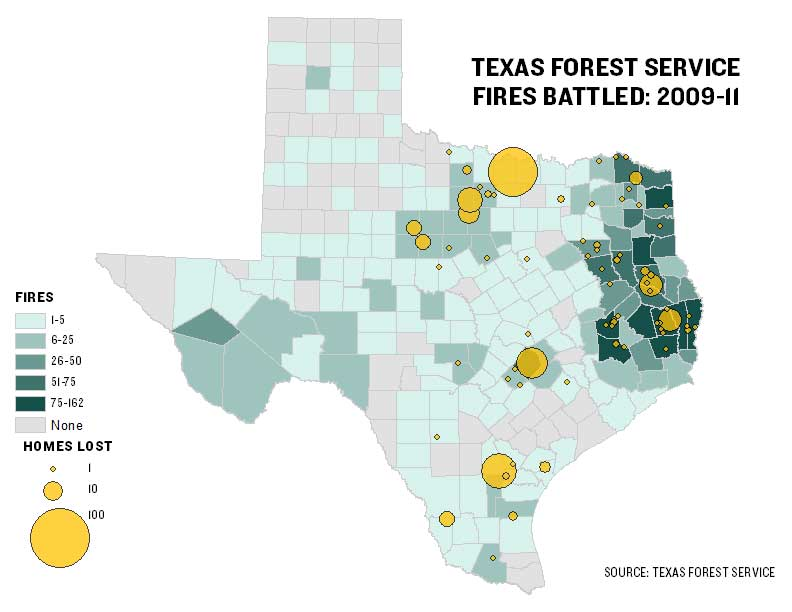 Map Of Texas Forests.Texas Agency Battled 2 600 Fires Since 2009 The Texas Tribune
