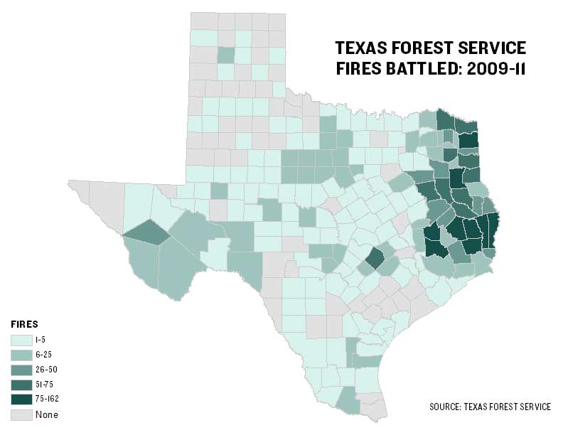 Texas Forest Service Fire Map Texas Agency Battled 2,600 Fires Since 2009 | The Texas Tribune
