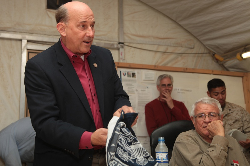 U.S. Rep. Louie Gohmert at the annual alumni Aggie Muster at Camp Leatherneck Helmand Province in Afghanistan on April 21, 2012.