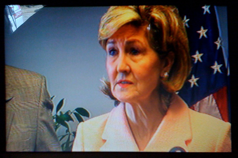 March 31, 2010. U.S. Sen. Kay Bailey Hutchison in San Antonio, announcing she will keep her Senate seat through 2012.