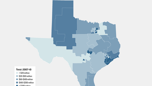 Medicare UPL Distribution by Texas Senate Districts