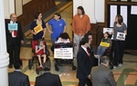 Texas children in wheelchairs protest proposed Medicaid budget cuts as the House debates the budget on April 1, 2011.