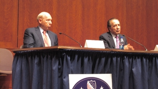Bill White and Farouk Shami at LULAC candidate forum