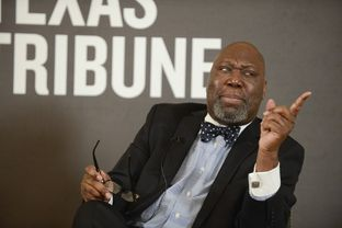 Texas Commissioner of Education Michael Williams answers a question at Tribune event on Jan. 10, 2013.