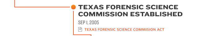 TEXAS FORENSIC SCIENCE  COMMISSION ESTABLISHED SEP 1, 2005 texas forensic science commission actTEXAS FORENSIC SCIENCE  COMMISSION ESTABLISHED SEP 1, 2005 texas forensic science commission actTEXAS FORENSIC SCIENCE  COMMISSION ESTABLISHED SEP 1, 2005 texas forensic science commission act