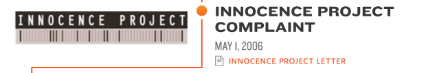 INNOCENCE PROJECT† COMPLAINT MAY 1, 2006 innocence project letter