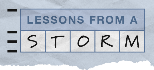 Series logo for Lessons from a Storm