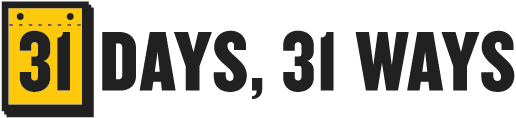Series logo for 31 Days, 31 Ways (2013)