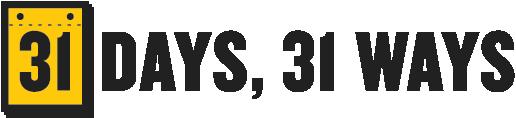 Series logo for 31 Days, 31 Ways (2015)