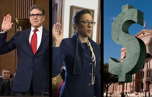 In the Roundup: Former Gov. Rick Perry has confirmation hearing for energy secretary, State Rep. Dawnna Dukes is indicted and the Texas House and Senate are billions of dollars apart on the state budget.