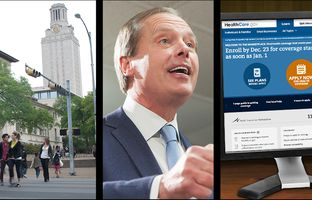 This week in the Newsreel: Infighting continues between UT regents and administrators, David Dewhurst tells voters they don't know Dan Patrick, and a deadline looms for signing up for health insurance under the Affordable Care Act.