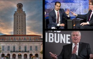This week in the Newsreel: Travis County prosecutors are eyeing a report on UT Regent Wallace Hall, Julián Castro and Dan Patrick duke it out in San Antonio and comptroller candidate Mike Collier stops by a TribLive event.