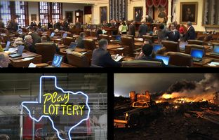 In this edition of the Newsreel: The conversation in West turns to regulation, the Senate wants to ask voters to use Rainy Day Fund money, the House undoes the state lottery and then puts it back together, and some Texas prosecutors are in hot water.