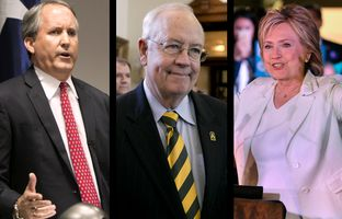 In the Roundup: The state's attorney general loses his latest bid to have his criminal indictment dismissed, Ken Starr – the now former president of Baylor University – announces plans to resign his role as chancellor and Hillary Clinton declares she could turn Texas blue.