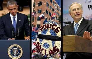 In the Roundup: The fatal shootings of five Dallas police officers drew President Obama to the Lone Star State this week to memorialize the fallen. Gov. Greg Abbott couldn't attend Tuesday's service because of severe burns suffered during a recent vacation.
