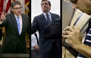 In the Roundup: Rick Perry shames the father of a fallen Muslim soldier, a new poll out shows Ted Cruz could lose to at least one fellow Republican in 2018 and the Texas AG weighs in on the legality of praying in court.