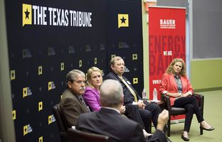 At our 4/29 symposium on the Texas economy, Ross Ramsey talked about the state budget and spending with state Sens. Larry Taylor, R-Friendswood, and Sylvia Garcia, D-Houston, and state Reps. John Otto, R-Dayton, and Donna Howard, D-Austin.