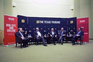 At our 4/29 symposium on the Texas economy, the Houston Chronicle's Chris Tomlinson talked about taxes with state Sen. Paul Bettencourt, R-Houston, 2014 Democratic candidate for comptroller Mike Collier, state Rep. Dennis Bonnen, R-Angleton, and Dale Craymer of the Texas Taxpayers and Research Association.