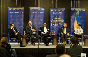 At our 1/22 symposium on urban public education, I talked about the intersection of policy and population with superintendents Juan Cabrera of El Paso, Richard Carranza of San Francisco and Michael Hinojosa of Dallas and UTEP's Elena Izquierdo.