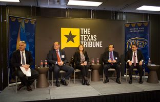 At our 1/22 symposium on urban public education, John Fitzpatrick of Educate Texas talked about widening the high school-to-college pipeline with David Anthony, CEO of Raise Your Hand Texas;Susan Simpson Hull, superintendent of the Grand Prairie Independent School District; Daniel King, superintendent of the Pharr-San Juan-Alamo Independent School District; and William Serrata, president of the El Paso Community College District.