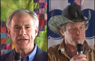 Here's full video of Attorney General Greg Abbott, the leading Republican candidate for Texas governor, and conservative rocker Ted Nugent addressing a crowd of supporters in Denton on Feb. 18.
