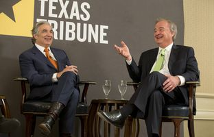 At this morning's TribLive conversation, University of Texas System Chancellor Francisco Cigarroa and Texas A&M University System Chancellor John Sharp talked about the per-student decline in state funding of higher education and whether excellence is achievable on a lean budget.