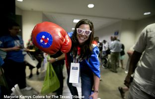 As Donald Trump crisscrossed the state fundraising and rallying supporters this week, Texas Democrats gathered to unite thousands of delegates behind their party's presumptive nominee, Hillary Clinton, to help ensure Trump's defeat. But some delegates aren't quite ready to abandon Bernie Sanders.
