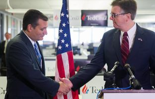 U.S. Sen. and GOP presidential candidate Ted Cruz came home to Houston on Monday to announce a few key endorsements, including one from Lt. Gov. Dan Patrick.