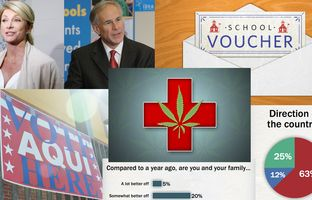 This week in the Newsreel: The latest University of Texas/Texas Tribune poll looks at the 2014 races, the direction of the country and legalizing marijuana.