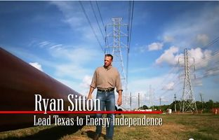 Ryan Sitton, an oil and gas engineer running for Texas railroad commissioner, introduces himself in his first television ad, saying he will help Texas lead the U.S. to energy independence.