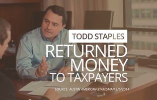 In a new TV ad, lieutenant governor hopeful Todd Staples' campaign frames the March Republican primary as a clear choice between Staples and incumbent David Dewhurst, painting Staples as the candidate who fought to reduce state spending and challenge Obama administration regulations.