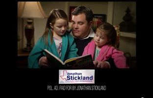 State Rep. Jonathan Stickland, R-Bedford, has rolled out a new television ad touting a commitment to families. The 30-second ad references a bill Stickland helped push through the Legislature that allows children of active duty service members to receive excused absences in school while spending time with those parents or guardians.