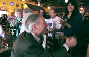 In a new online ad, Republican gubernatorial nominee Greg Abbott talks about his family's multiculturalism while campaigining in predominantly Hispanic South Texas. The ad also features his wife, Cecilia Abbott.