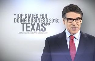 A new television ad featuring Gov. Rick Perry will air in the Empire State, touting Texas as a better option for business.