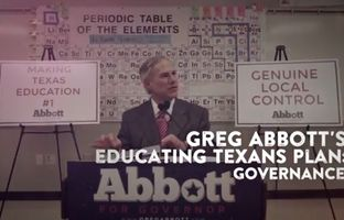Republican gubernatorial candidate Greg Abbott is promoting the second phase of his Educating Texans plan with a new web ad Thursday, emphasizing local control of schools and more training for teachers.