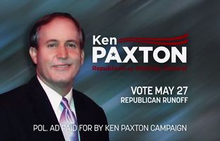 "The campaign for attorney general candidate Ken Paxton released a new ad on Wednesday going after his primary opponent, Dan Branch, for being a ""registered union lobbyist"" and a ""liberal Republican."""