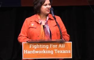 On the anniversary of the 2013 filibuster of an omnibus abortion bill, state Sen. Leticia Van de Putte, D-San Antonio, spoke to more than a thousand supporters in Austin, and asked for their help to win the lieutenant governor's race in November.