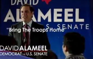 David Alameel, one of five Democrats running for the U.S. Senate seat currently held by John Cornyn, released a video Wednesday focused on ending the U.S. commitment in Afghanistan.