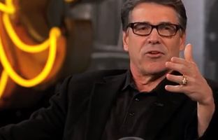 Gov. Rick Perry, who's considering a repeat run for president, went on the Jimmy Kimmel show in Austin on Tuesday night, where he talked about music, marijuana decriminalization and whether he'll seek the presidency again.