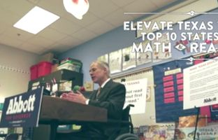 In a new web ad, gubernatorial frontrunner Greg Abbott talks about his plan for making Texas students high achievers in short order.